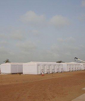 Instalasi Managemen Modular  Kabin Di Senegal Selesai