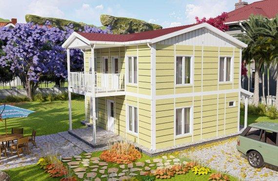 128 m2 Villa Rumah Pabrikan