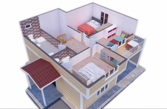 137 m2 Villa Rumah Pabrikan