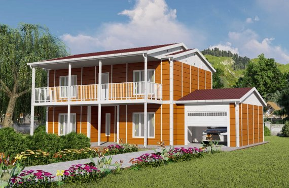 196 m2 Villa Rumah Pabrikan