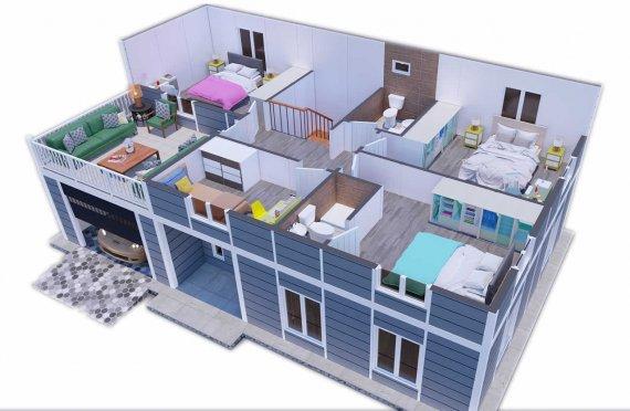 206 m2 Villa Rumah Pabrikan