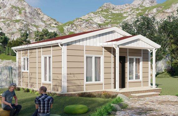 45 m2 Rumah Bertingkat Tunggal
