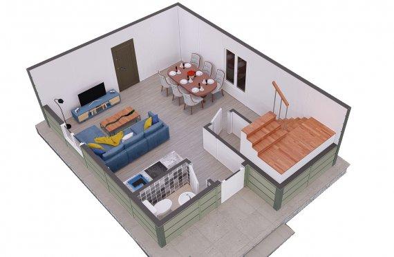 91 m2 Villa Rumah Pabrikan