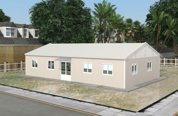 Bangunan Kantor Modular 136 m2