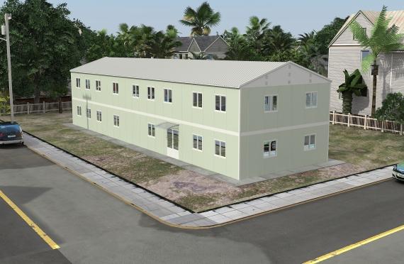 Bangunan Kantor Modular 463 m2