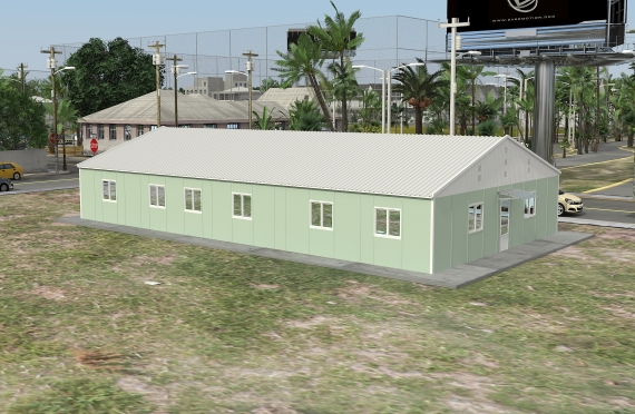 Bangunan Kantor Modular 246 m2