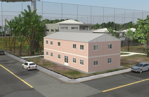 Bangunan Kantor Modular 340 m2