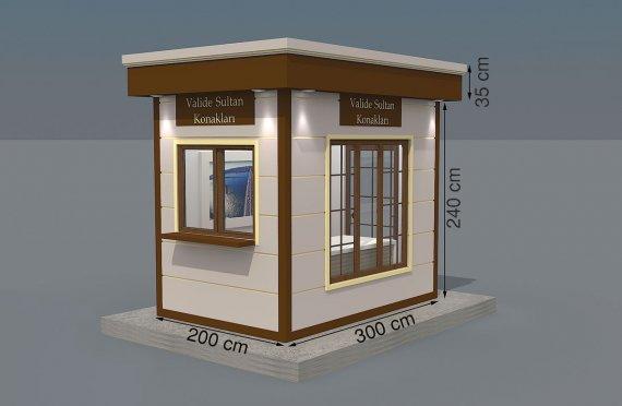 Kabin Prefab Modern 200x300