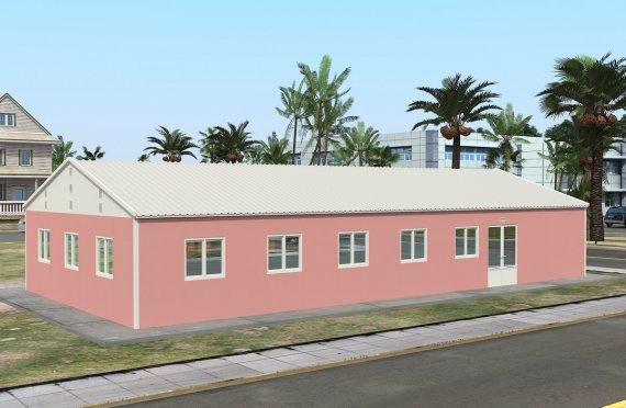 kantin prefabrikasi 170 m²