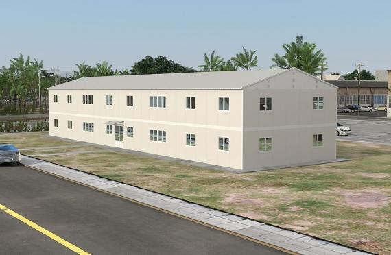 Bangunan Kantor Modular 588 m2