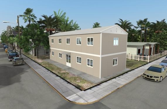 Bangunan Kantor Modular 214 m2
