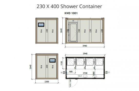 Kontainer Shower-KW4 230x400