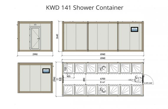 Kontainer Shower- KWD 141