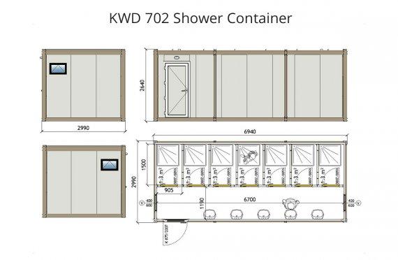 Kontainer Shower KWD 702