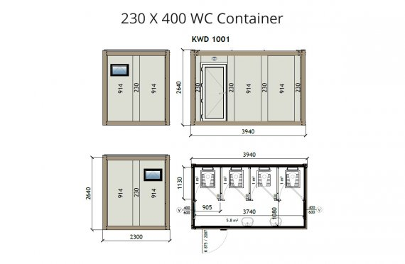 Kontainer Wc KW4 230x400