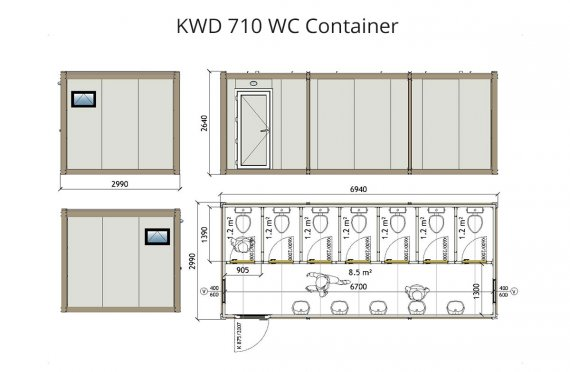 Wc Kontainer KWD 710