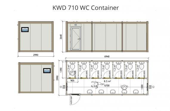 Wc Kontainer KWD 710