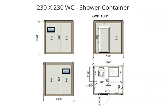 Kontainer Shower- KW2 230x230