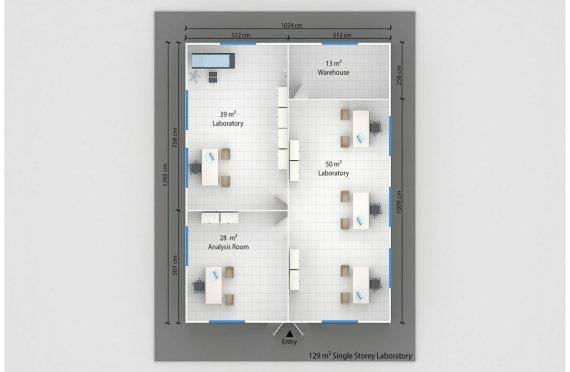 Laboratorium Modular 129 m2