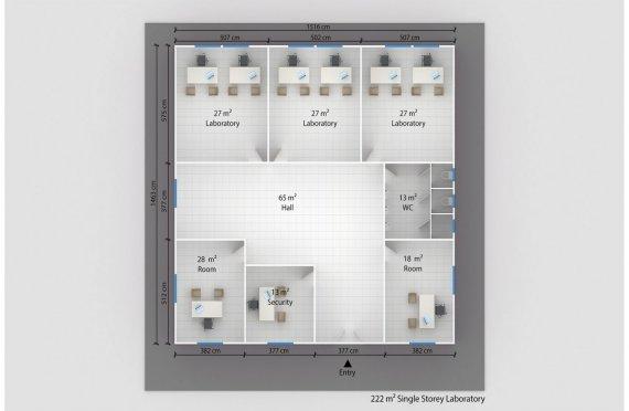 Laboratorium Modular 222 m2