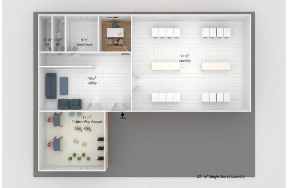 Laundry Modular 201 m2