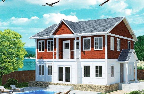 Rumah Modular Prefabrikasi Karmod - 125m² Desain Rumah Modular Prefabrikasi dan Plan