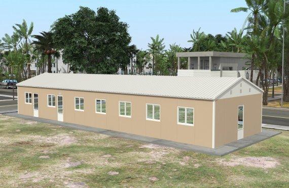 Kantin prefabrikasi 139 m²