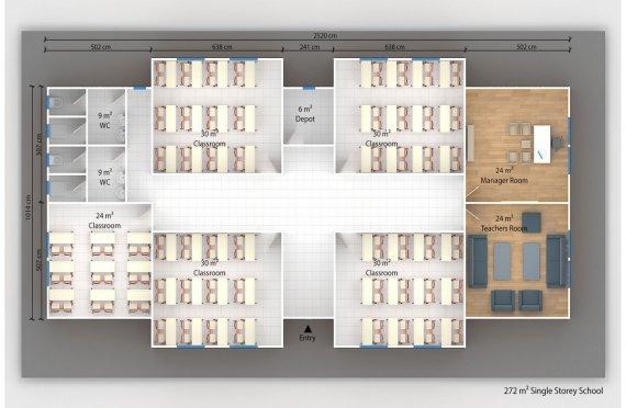 Kelas Portabel 272 m2