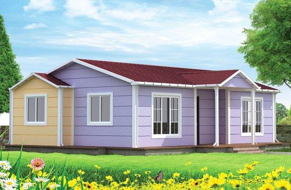 Rumah Prefabrikasi Modular - 79,5 m² Desain dan Plan Rumah Modular Prefabrikasi