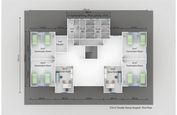 Rumah Sakit Modular 576 m2