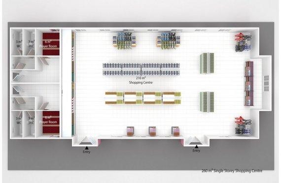 Supermarket Modular 260 m2