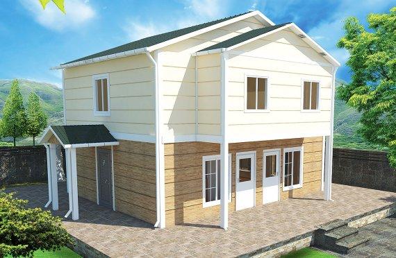Rumah Modular Prefabrikasi Karmod - 114m² Desain Rumah Modular Prefabrikasi dan Paket
