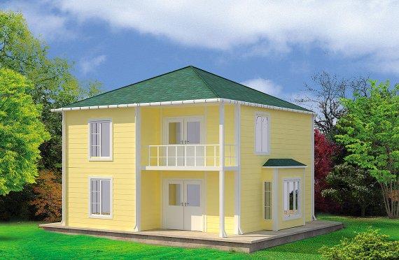 Rumah Modular Prefabrikasi Karmod - 124m² Desain Rumah Modular Prefabrikasi dan Plan