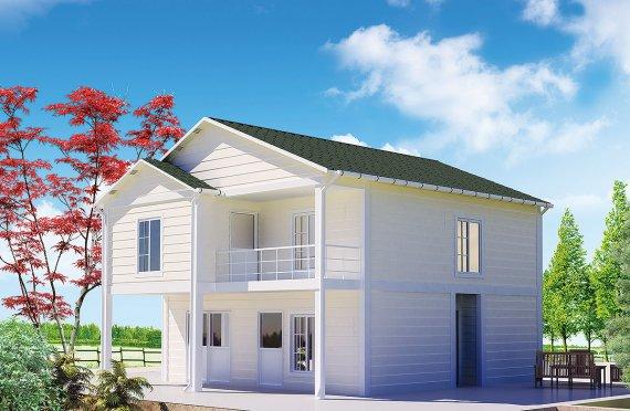 Rumah Vila Prefabrikasi 130 m²
