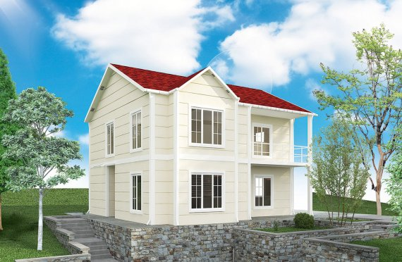 Rumah Modular Prefabrikasi Karmod - 132m² Desain Rumah Modular Prefabrikasi dan Plan