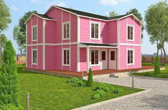 Rumah Modular Prefabrikasi - 147 m² Desain Rumah Modular dan Plan
