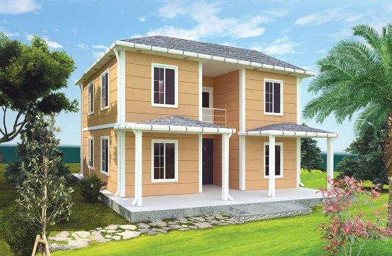 Rumah Modular Prefabrikasi Karmod - 148m² Desain Rumah Modular Prefabrikasi dan Plan