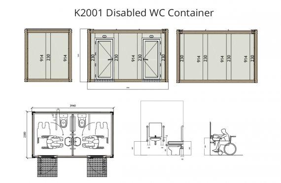 WC Kontainer Penyandang Cacat K 2001