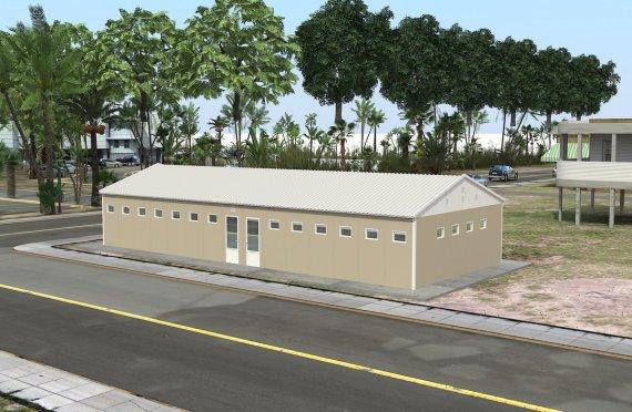 Bangunan Toilet & Shower Prefabrikasi 145 m²