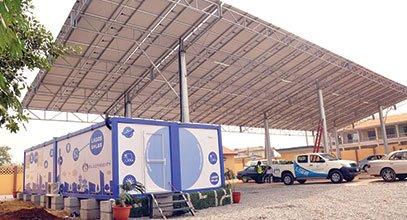 Kontainer generasi baru Karmod telah di gunakan untuk penyimpanan energi solar di Nigeria