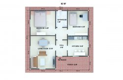 Rencana Rumah Prefab Satu Lantai
